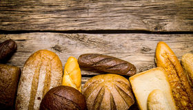 Bakery products on wooden background. Royalty Free Stock Photography