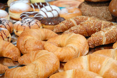 Bakery produkts. Display of bakery products, background Stock Photo