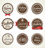 Bakery retro badges collection Stock Images