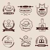 Bakery retro emblem and labels collection Royalty Free Stock Photography