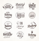 Bakery retro labels Royalty Free Stock Images