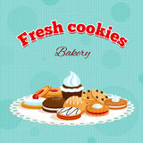 Bakery retro poster Stock Images