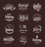 Bakery retro vintage badges and labels. Collection Royalty Free Stock Image