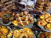 Bakery scene 1. Delectable baked goods Royalty Free Stock Images