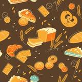 Bakery seamless background Stock Images