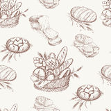 Bakery pattern Royalty Free Stock Images