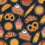 Bakery seamless pattern Royalty Free Stock Images