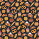 Bakery seamless pattern Stock Image