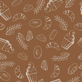 Bakery seamless pattern stock illustration