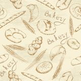Bakery seamless pattern Royalty Free Stock Image