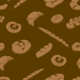 Bakery seamless pattern Royalty Free Stock Photos