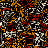 Bakery seamless pattern Royalty Free Stock Photography