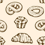 Bakery seamless pattern Royalty Free Stock Photography