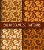 Bakery seamless patterns Stock Images