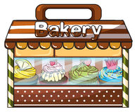 A bakery selling baked goodies and cakes Stock Photos