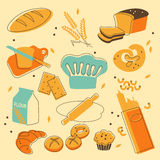 Bakery set Royalty Free Stock Image