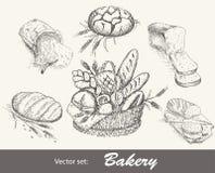 Bakery set vector illustration