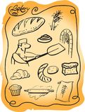 Bakery set. Color vector illustration Royalty Free Stock Image