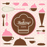 Bakery set  0065 Royalty Free Stock Image