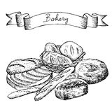 Bakery set Stock Photography