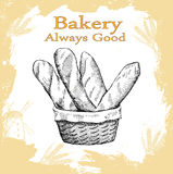 Bakery set. Bakery. hand drawing set of vector sketches royalty free illustration