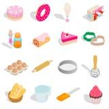 Bakery set icons, isometric 3d style Royalty Free Stock Image
