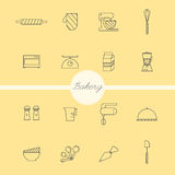 Bakery set vector Royalty Free Stock Photos