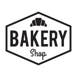 Bakery shop Badge/Label. Sweet bakery, croissant royalty free stock image