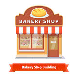 Bakery shop building facade with signboard Royalty Free Stock Images
