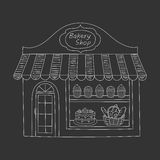 Bakery shop building vector illustration. Stock Images