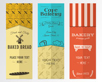 Bakery shop and cafe vertical banners collection Royalty Free Stock Images