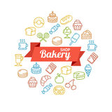 Bakery Shop Concept Outline. Vector Stock Images