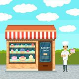 Bakery shop and cook Stock Photos