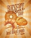 Bakery shop design. Bakery shop vintage design. Eps10 stock illustration
