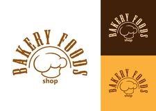 Bakery shop emblem or label Stock Photos
