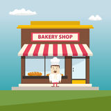 Bakery shop front view Royalty Free Stock Photos