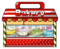 A bakery shop royalty free illustration