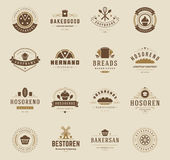 Bakery Shop Logos, Badges and Labels Royalty Free Stock Photos