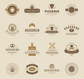 Bakery Shop Logos, Badges and Labels Royalty Free Stock Images
