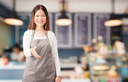 Bakery shop owner Royalty Free Stock Images