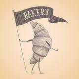 Bakery shop, pastry vector logo, sign, icon, symbol, emblem Stock Photography