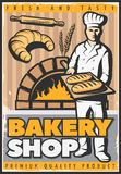Bakery Shop Poster Stock Images