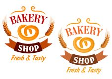 Bakery Shop and pretzel sign Stock Image
