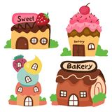 Bakery shop vector collection design. Sweet shop vector collection design stock illustration