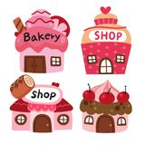 Bakery shop vector collection design. Sweet shop vector collection design royalty free illustration