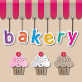 Bakery shopfront sign Stock Photo
