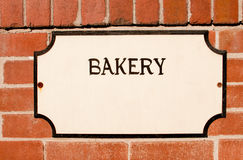 Bakery Sign Royalty Free Stock Photography