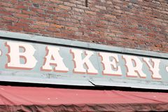Bakery Sign. View of a quaint bakery sign Stock Image