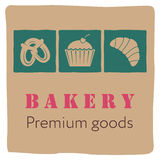 Bakery signboard design Stock Image