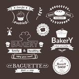 Bakery signs set Royalty Free Stock Photography